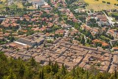 gubbio翁布里亚意大利城市 免版税库存照片
