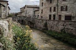 Gubbio, Überfluss-Brücke Stockfoto