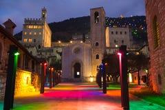 Gubbio на времени рождества Стоковые Изображения