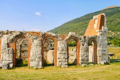 Gubbio amphitheatre Stock Photo