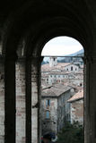 Gubbio archs Royalty Free Stock Photography