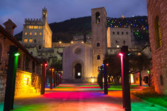 Gubbio at christmas time. Stock Images