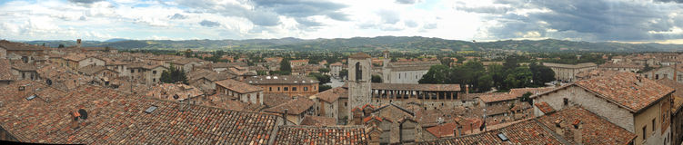 Gubbio city overview panorama Stock Photography