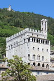 Gubbio in dei Consoli van Umbrië Palazzo Stock Foto's
