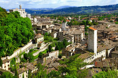 Gubbio en Umbría, Italia Foto de archivo libre de regalías