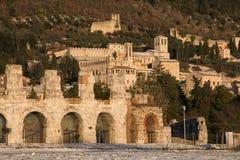 Gubbio es una ciudad medieval fantástica en la región de Umbría imágenes de archivo libres de regalías