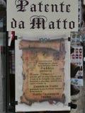 Gubbio - furiata ` s pozwolenie zdjęcia royalty free