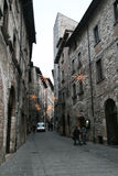 Gubbio houses Royalty Free Stock Photos
