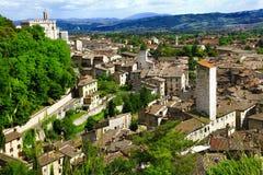 Gubbio i Umbria, Italien Royaltyfri Foto