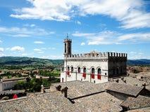 Gubbio, Italië Palazzodei Consoli stock fotografie