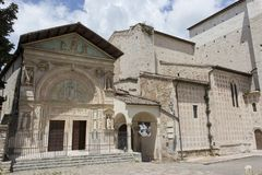 A view of Gubbio church Royalty Free Stock Photos