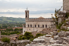 Gubbio. Italy. Landscapes of the old town. Stock Images