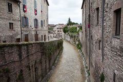 Gubbio. Italy. Landscapes of the old town. Stock Photography