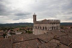 Gubbio italy Landskap av den gamla staden Royaltyfria Bilder