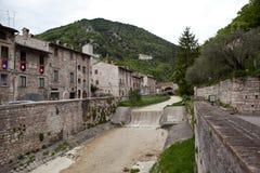 Gubbio italy Landskap av den gamla staden Royaltyfri Foto