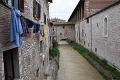 Gubbio italy Landskap av den gamla staden Royaltyfri Bild