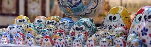 Gubbio maiolica owls Stock Image