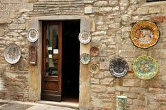 Gubbio maiolica shop Stock Image