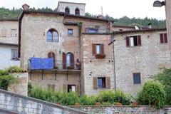 Gubbio, middeleeuwse stad in Umbrië Stock Foto's