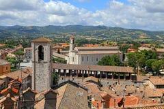 Gubbio, middeleeuwse stad in Umbrië Stock Foto