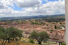 Gubbio, middeleeuwse stad in Umbrië Royalty-vrije Stock Afbeeldingen