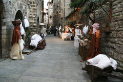 Gubbio nativity Stock Images