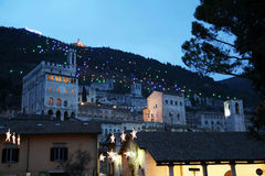 Gubbio by night Stock Photo