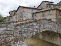 Gubbio - obfitość mosty zdjęcia royalty free