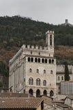 Gubbio, Perugia, Italia - la facciata del dei Consoli di Palazzo Il palazzo è situato in Piazza Grande, in Gubbio Fotografia Stock