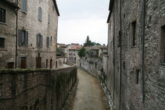 Gubbio river Stock Photography