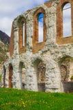 Gubbio Roman Theatre, construido en el siglo I fotografía de archivo