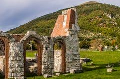 Gubbio Roman Theatre i Italien Royaltyfria Foton