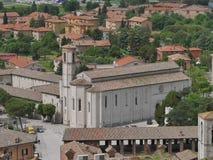 Gubbio - St Francis kościół zdjęcia stock