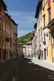 Gubbio street. Details of a street captured in Gubbio / Umbria / Italy during a medieval fest Royalty Free Stock Images