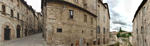 Gubbio street panorama Stock Photo