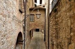Gubbio street Stock Images
