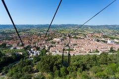 Gubbio - Umbria - Italien Arkivbild