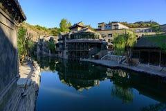 Gubei vattenstad, Miyun County, Peking, Kina Arkivbilder