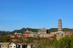 Gubei vattenstad, Miyun County, Peking, Kina Royaltyfria Bilder