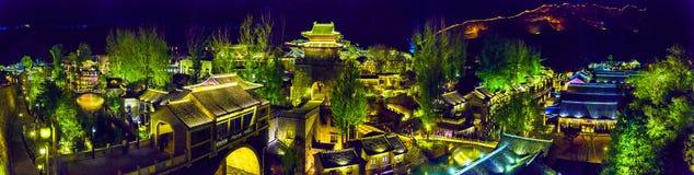 Gubei vattenstad, Miyun County, Peking, Kina Arkivbild