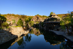 Gubei Water Town, Miyun County, Beijing, China. Gubei Water Town is located in the Miyun County in Beijing, China. It is backed by one of the most beautiful and Stock Images