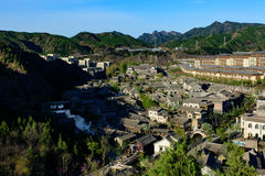 Gubei Water Town, Miyun County, Beijing, China. Gubei Water Town is located in the Miyun County in Beijing, China. It is backed by one of the most beautiful and Royalty Free Stock Image