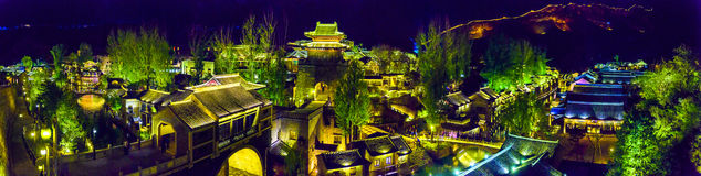 Gubei Water Town, Miyun County, Beijing, China. Gubei Water Town is located in the Miyun County in Beijing, China. It is backed by one of the most beautiful and Stock Photography
