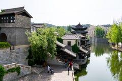 Gubei Watertown dans Simatai dans Pékin en Chine, reproduction d'ancie images libres de droits
