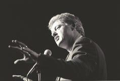 Gubernator Bill Clinton mówi przy Nowy Jork wiecem podczas Clinton, krwi kampanii 1992/ Fotografia Royalty Free