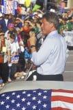 Gubernator Bill Clinton mówi przy sądu hrabstwa domem podczas Clinton, krwi Buscapade kampanii 1992 wycieczki turysycznej w Ateny Zdjęcie Stock