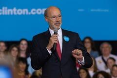 Gubernator ofert Wilczy komentarze Hillary Clinton wiec Zdjęcie Royalty Free