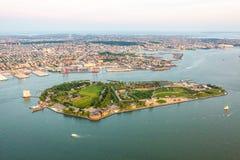 Gubernator wyspa Nowy Jork widok z lotu ptaka zdjęcia stock