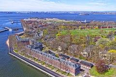 Gubernator wyspa w Górnej Nowy Jork zatoce Fotografia Royalty Free