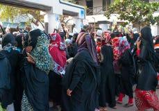 Gubernatorska agitacja przedwyborcza w Lamu, Kenja Obrazy Stock